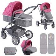 Бебешка комбинирана количка Lorelli S500 Set 3in1 Rose & Grey Girl 2017, 10020851740