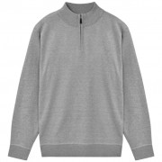 vidaXL cipzáros férfi pulóver szürke XL