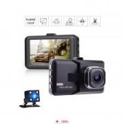 Camera Auto Full HD SMT640 dual camera + MicroSD 16Gb, CAR Triple