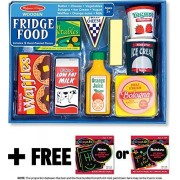Fridge Food: Play Food Set + Free Melissa & Doug Scratch Art Mini Pad Bundle [40761]