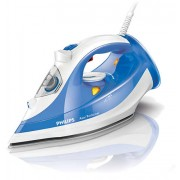 Philips Парна ютия Azur Performer 2400W 40g/min steam, 150 г парен удар, SteamGlide Plus, Anti-calc, white/blue