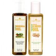 Park Daniel Premium Moringa oil and Almond oil combo of 2 bottles of 100 ml (200ml)