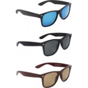 Zyaden Wayfarer, Wayfarer, Wayfarer Sunglasses(Blue, Black, Brown)