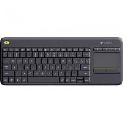 Logitech Wireless K400 Plus Wireless keyboard Black Built-in touchp...