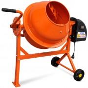 vidaXL Elektrická oceľová miešačka na betón oranžovej farby 63 L 220 W