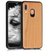 kwmobile Dřevěné pouzdro pro Samsung Galaxy A40 - třešňové dřevo