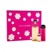 Prada Candy confezione regalo eau de parfum 80 ml + eau de parfum 7 ml + lozione corpo 75 ml per donna