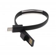 Suave Micro USB 2.0 Cable Pulsera Brazalete De Línea De Carga De Datos Para Android