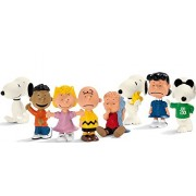 Schleich Peanuts 8 Figure Set - Charlie Brown, Snoopy, Joe Cool, Lucy, Sally, Linus, Franklin and Wo