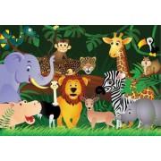 Dzikie zwierzaki - fototapeta