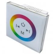 Vezetékes fali vezérlő RGB LED szalaghoz, 3x4A, 12-24VDC, fehér