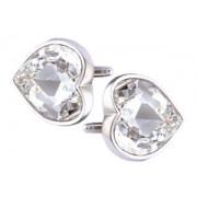 Mousie Bean Crystal Cufflinks Large Heart 075 Crystal