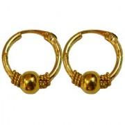 Men Style Shivaji Bali (18mm Diameter 2 mm thickness) Gold Alloy Round Piercing Hoop Earring