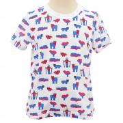 【セール実施中】KIDS 山の動物 TEE キッズ ジュニア 半袖Tシャツ WES17K02-5714 WHT