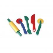 Set accesorii pentru modelaj, 5 piese, Multicolor