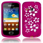 Samsung Galaxy mini 2 S6500 Flora Силиконов Калъф Розов + Протек