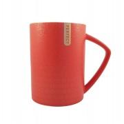 Cana ceramica Perfect Life cu capac Rosu 400 ml