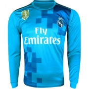 Real Madrid football club full sleeve polyester green blue 18/19 away jersey