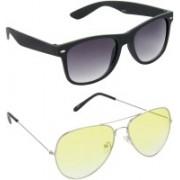 Redleaf Wayfarer, Aviator Sunglasses(Grey)