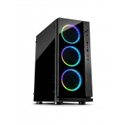 Carcasa Inter-Tech W-III RGB, ATX Mid Tower, fara sursa