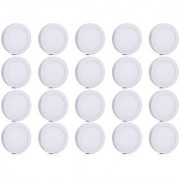 Bene LED 12w Round Surface Panel Ceiling Light Color of LED White (Pack of 20 Pcs)