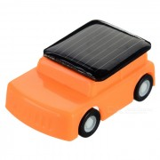 Toy DIY 0.15W Solar Powered Mini Educativo coche lindo - Rojo + Naranja