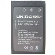 Uniross U0183192 Батерия Съвместма с Olympus BLS-1