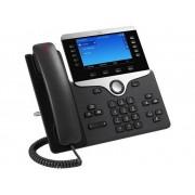 Cisco CP-8841-3PCC-K9= VoIP-systeemtelefoon Kleurendisplay Zwart, Zilver