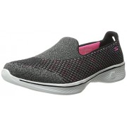 Skechers Performance Women s Go Walk 4 Kindle Slip-On Walking Shoe Black/Hot Pink 7 B(M) US