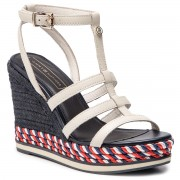 Еспадрили TOMMY HILFIGER - Colorful Rope Wedge Sandal FW0FW03821 Whisper White 121