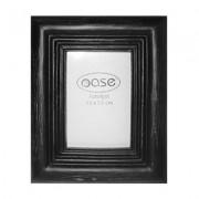 Fotolijst hout robuust zwart 25 cm