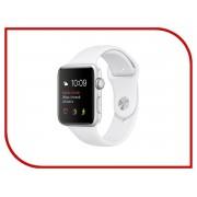 Умные часы APPLE Watch 42mm Silver Aluminium Case with White Sport Band MNNL2RU/A