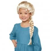 Peruca pentru copii, model Elsa Frozen