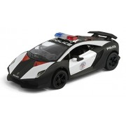 Collectable Diecast Kinsmart Die Cast Metal Sesto Elemento Police Toy Lamborghini Car with Doors Open - Multicolour