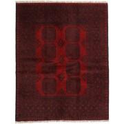 Handgeknüpft. Ursprung: Afghanistan Afghan Teppich 148X189 Echter Orientalischer Handgeknüpfter Dunkelrot/Dunkelbraun (Wolle, Afghanistan)