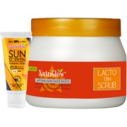Lacto Tan Scrub (500 g) with Sunscreen Lotion SPF 30 (65 ml) Free