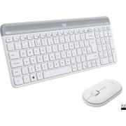 Logitech - MK470 Wireless Scissors Keyboard and Mouse Bundle - Off-White
