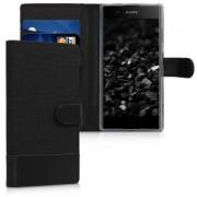 kwmobile Flipové pouzdro pro Sony Xperia XA1 Plus - antracitová
