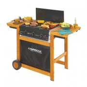 Campingaz Adelaide 3 Woody DualGas 14000 W Barbecue Gas Carrello Nero,