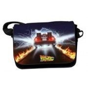 Geanta Back To The Future Delorean Car Trails With Flap Messenger Bag
