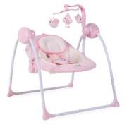Leagan electric cu conectare la priza Baby Swing+ Pink