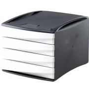 Suport documente, 4 sertare, alb, FELLOWES Green2Desk
