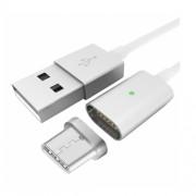 Cablu de date Star magnetic cu conector USB Type C 1m alb