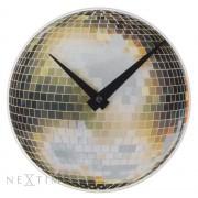 Orologio da parete Little Disco - palla da discoteca in vetro specchiato Nextime