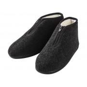 Livergy Heren pantoffels 45, Antraciet, met ritssluiting