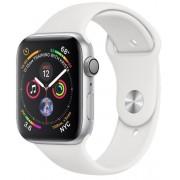 Smartwatch Apple Watch 4, 40mm, LTPO OLED Retina Display, GPS, Bluetooth, Wi-Fi, Bratara Sport Alba, Carcasa aluminiu, Rezistent la apa si praf (Silver)