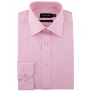 Double TWO Men's Double TWO King Size 100 Cotton Poplin Shirt