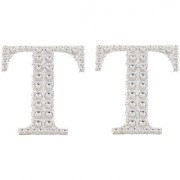 Magideal 2Pcs Self Adhesive Letters Diamante Post Box Favour Embellishment Crafts T
