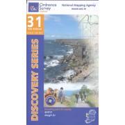 Topografische kaart - Wandelkaart 31 Discovery Mayo (CENT) | Ordnance Survey Ireland