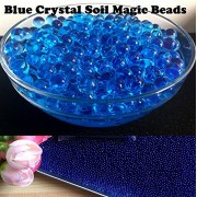Jo's New 10000 BLUE COLOR CRYSTAL MAGIC SOIL WATER BEADS, Water Growing Jelly Balls, Vase Filler for Wedding, Home Flower Decoration, Party Decoration Kids Toy Planting Crystal Soil Mud etc… A Great Toy, Decorations, Watering Plants, Sensory Play etc,…
